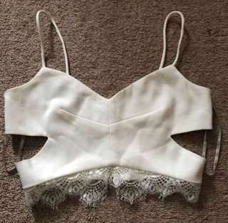CUTE STRAPPY LACE CROP TOP