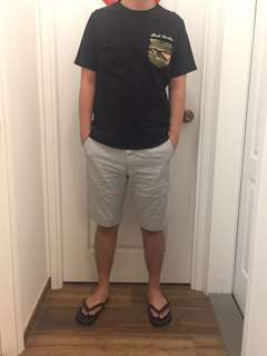Uniqlo men's stripe shorts 男裝間條短褲