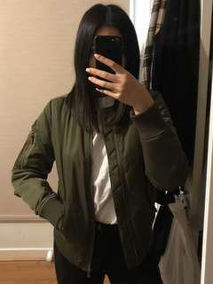 ALL ABOUT EVE Khaki Bomber Jacket