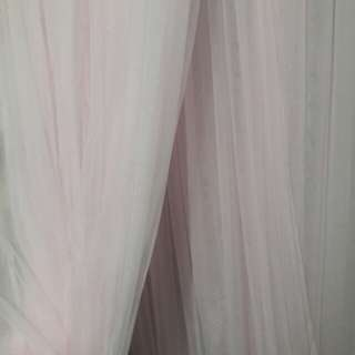 Double sheer pink curtain