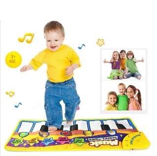 Musical Dance Mat Kids Baby Touch Play Keyboard Music Singing Gym Carpet Mat Best Kids Baby Gift