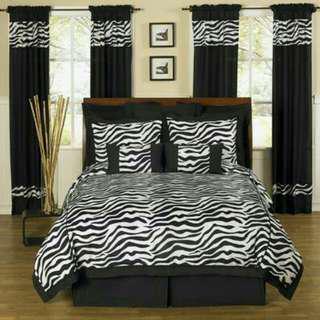 Zebra printed  bedsheet
