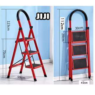 Three step foldable ladder