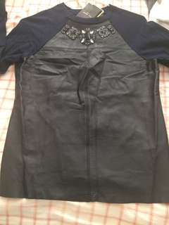 Ted baker leather top