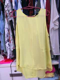 FOREVER21 Yellow sleeveless blouse