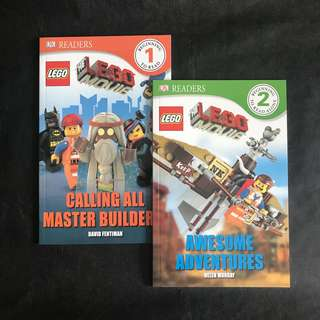 💥NEW- Lego Movie Duo Set -DK Readers Level 1 & 2 - Children story books