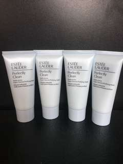 *Free by post* Estée Lauder Perfectly Clean Multi-Action Cleanser/Purifying Mask 30ml x 4pcs