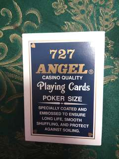 ANGEL 727 Casino Playing Cards Original Kartu Remi