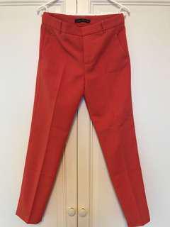 Zara orange office pants