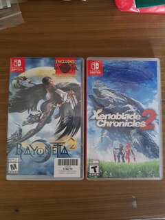 Bayonetta 2 & Xenoblade chronicles 2 Nintendo Switch