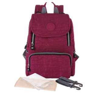 INSULAR Quality Mummy Daddy Baby Diaper Baby Bottles Organiser Lightweight Bag Pack in Maroon Wine Red
