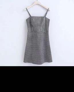 Women gingham dress size s