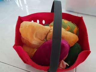 fruits basket soft  toys