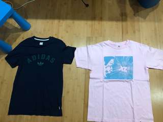 Adidas and xlarge tee small both for 1200 only