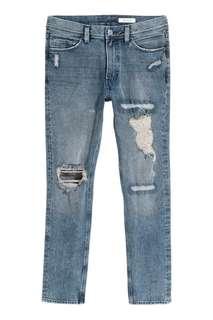 H&M Slim Flex Jeans for Men Size 34