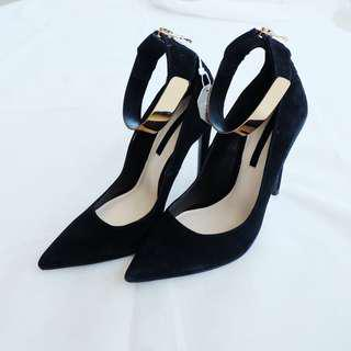 ZARA Black Gold Heels