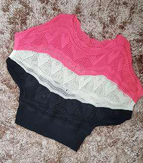 Multicolored Knitted Top