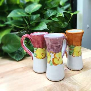 Handcrafted Ceramic Shot Glasses (3 Pieces)
