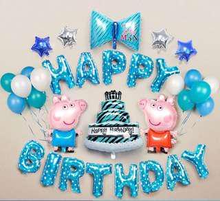 百日宴,生日氣球 peppa pig (party ballon)
