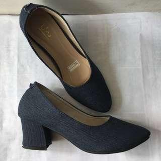 Luino Jeans Block Heels