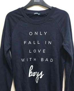 H&M navy sweatshirt