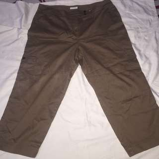 CHARGER CLUB dark brown plus size cargo pants W16