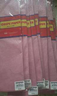 Pearl pink crepe paper