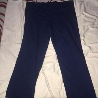 Dark blue drawstring plus size scrub suit fits xl