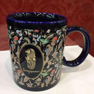 Singapore Merlion Batik Mug