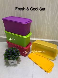 Tupperware Fresh & Cool Set (4pcs) 3.1L