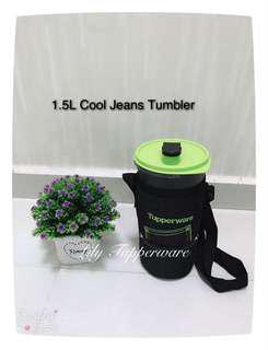 Tupperware 1.5L Cool Jeans Tumbler With Pouch