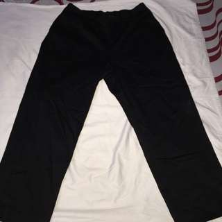 ALFRED DUNNER black plus size gartered cotton pants W18