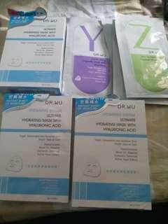 Dr.Wu玻尿酸保濕微導面膜3片3盒送膠囊面膜4片(包順豐)