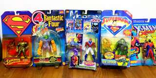 DC and Marvel Carded Figures