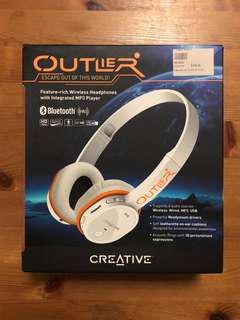 Creative Outlier wireless headphone with integrated MP3 player
