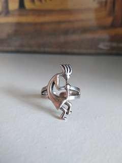 純銀鋯石 蘇聯石 戒指 介子 12號圈/開口 925 silver ring