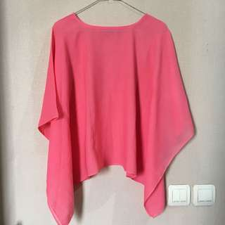 Pink Batwing Blouse