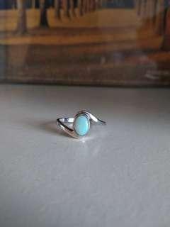純銀蛋白石 澳寶 歐泊 戒指 介子 12號圈 925 silver opal ring (免費 送 1個純銀蛋白石 澳寶 歐泊 吊咀 墜飾 free 925 silver opal pendant)