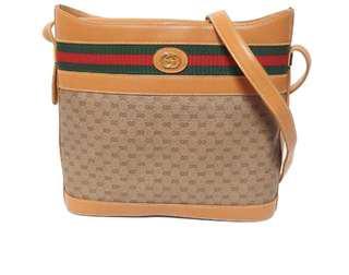 🚚 Gucci vintage  正品 斜背包 水桶包 極新 古董包