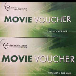 2 X Shaw Movie Vouchers