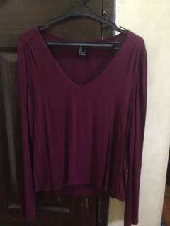 Forever 21 LS with bell sleeves
