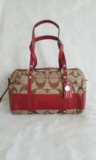Auth Coach Signature Zip Satchel Bag michael kors kate spade
