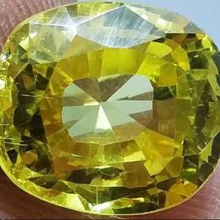 (13 Cts)  Natural Yellow Sapphire Gemstone 天然黃色藍寶石