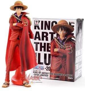 """One Piece: King of Artist - Pirate King - The Monkey D. Luffy 20th Limited Action Figure 9.8"""" tall K.O. Banpresto"""