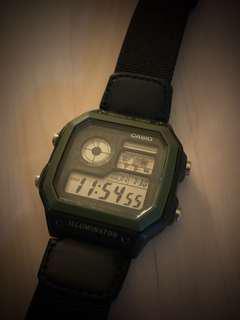 Casio wh-1200ae retro world clock watch 95% new
