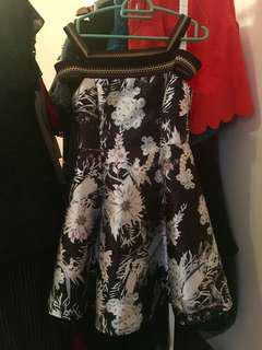Off shoulder elegant designer dress