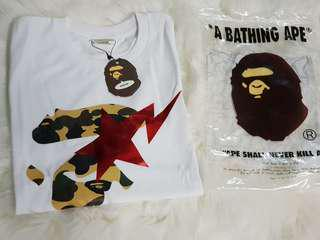 Bape red star mens Tee size L