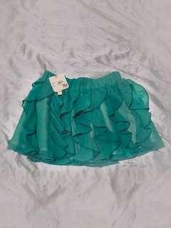 NEW Tiered Chiffon Tutu Skirt - Ruffled Chiffon Mint Skirt - Seafoam Green Short Samba Skirt