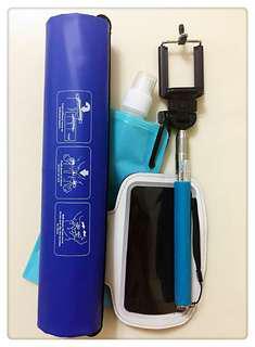 Sport & Outdoor Gadgets (Collapsible Bottle, Bag, Phone Holder, Selfie Stick)