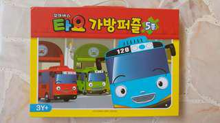 Tayo Little Bus 5 sets Puzzle (used)